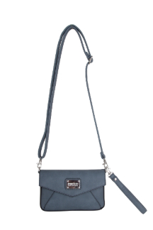 Ada Crossbody|Wristlet - Dusty Blue