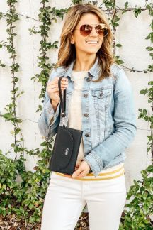 Adrian Wallet|Wristlet - Night Sky Black