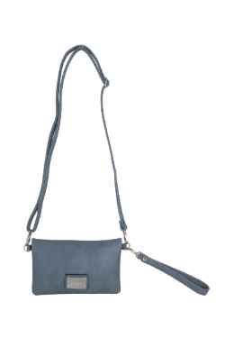 Allegan Crossbody|Wallet - Dusty Blue