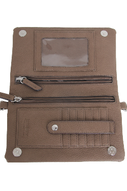 Allegan Crossbody|Wallet - Latte