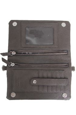 Allegan Crossbody|Wallet - Twilight Gray