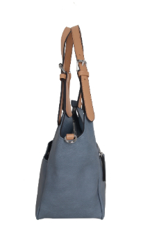 Berrien Springs Handbag - Dusty Blue (Side)