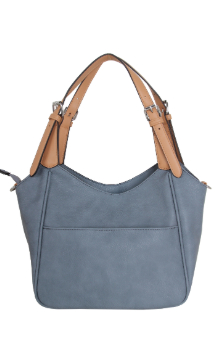 Berrien Springs Handbag - Dusty Blue (Back)