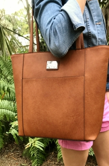 Point Betsie Handbag - Rustic Tan
