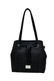 Blue Water Bridge Handbag - Black Licorice