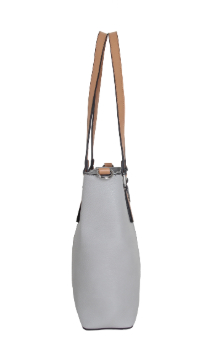 Boyne City Handbag - Farmhouse Gray (Side)