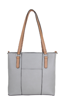 Boyne City Handbag - Farmhouse Gray (Back)