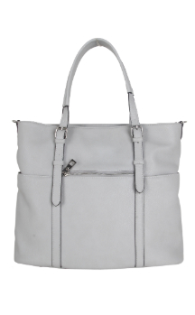 Commerce Tote - Farmhouse Gray (Back)