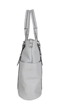 Commerce Tote - Farmhouse Gray (Side)