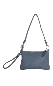 Cross Village Handbag - Dusty Blue (Back)
