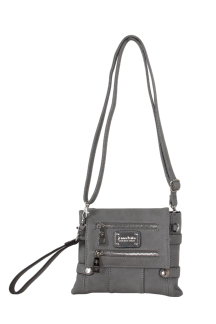Greektown Crossbody|Wristlet - Smoky Gray
