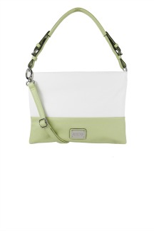 Harbor Springs Handbag - White/Lime