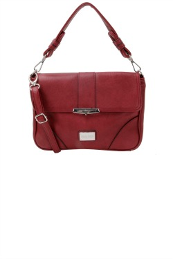 Holly Handbag - Sangria Red