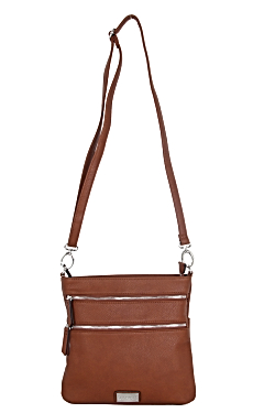 Mackinac Bridge Crossbody - Rustic Tan