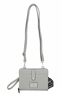 Little Sable Crossbody|Wristlet - Ash Gray
