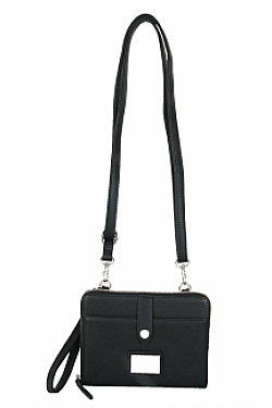 Little Crossbody|Wristlet - Black Licorice