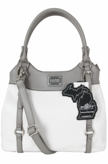 Lake Superior Handbag - White/Ash Gray