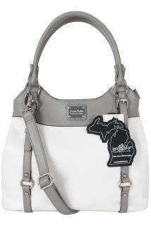 Lake Superior Handbag - White/Ash Gray