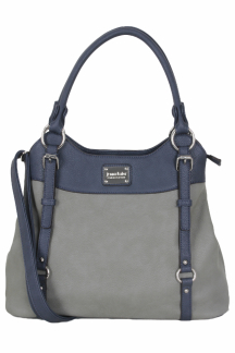 Lake Superior Handbag - Lapis|Smoky Gray