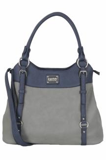 Lake Superior Handbag - Lapis/Smoky Gray