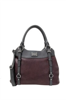 Lake Superior Handbag - Plum|Graphite Gray