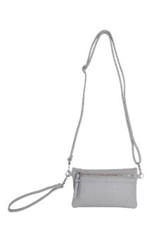 Allegan Crossbody|Wallet - Farmhouse Gray (Back)
