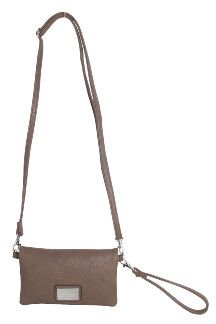 Allegan Crossbody|Wristlet - Latte