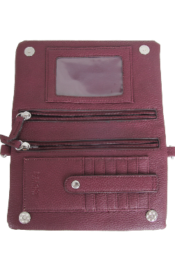 Allegan Crossbody|Wallet - Mulberry