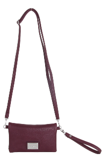 Allegan Crossbody|Wristlet - Mulberry