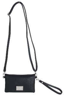 Allegan Crossbody|Wristlet - Night Sky Black