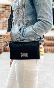 Allegan Crossbody|Wallet - Night Sky Black