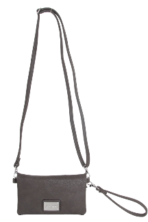 Allegan Crossbody|Wristlet - Twilight Gray