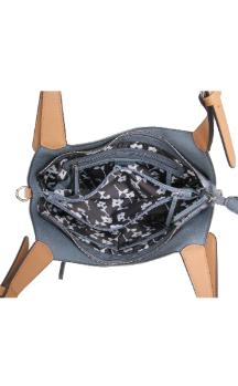 Berrien Springs Handbag - Dusty Blue (Top)