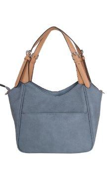 Berrien Springs Handbag - Dusty Blue (Back)