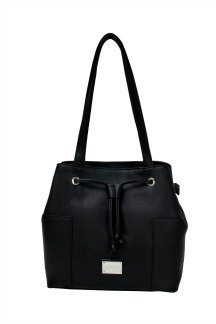Blue Water Bridge Handbag - Black Licorice