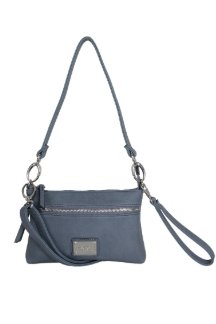 Cross Village Handbag - Dusty Blue