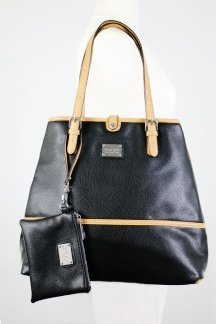 Grand Haven Tote w/ South Haven Wristlet - Jet Black