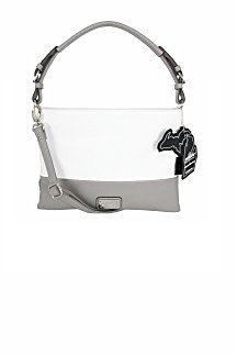 Harbor Springs Handbag - White/Ash Gray