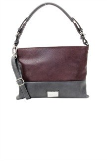 Harbor Springs Handbag - Plum/Graphite Gray