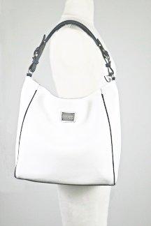 Houghton Lake Handbag - White/Regatta Blue