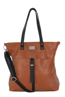 Howell Tote - Rustic Tan|Onyx Black