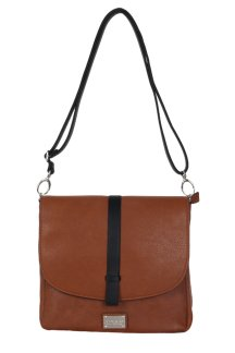 Milford Crossbody - Rustic Tan|Onyx Black