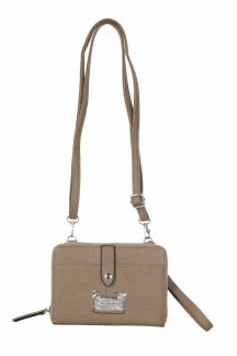 Little Sable Crossbody|Wristlet - Clay