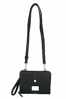 Little Sable Crossbody|Wristlet - Black Licorice