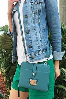 Little Sable Crossbody|Wristlet - Sea Glass Blue
