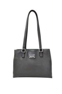 Sault Ste. Marie Bridge Handbag - Graphite Gray