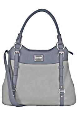 Lake Superior Handbag - Lapis|Smoky Gray