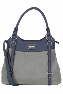 Lake Superior Handbag - Lapis/Smoky Gray